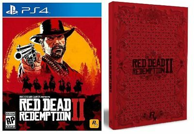 Red Dead Redemption Ii (Sony Playstation 4 2018)~ Brand New~ Steelbook~ Sealed~