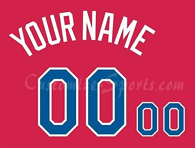 Dominican Republic Baseball Number Kit for 2017 Red Jersey