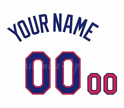 Dominican Republic Baseball Number Kit for 2017 White Jersey