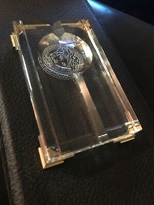 "Versace   By Rosenthal,germany  ""medusa Prisma ""  Cigar Ashtray, 7 3/4"" X 4 3/4"""