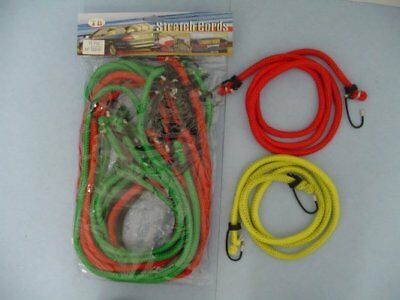 "10Pc. 48"" Inch (4 Ft.) Bungee  Cord Orange Hook  Tie Down Strap-10 Pc. Tools"
