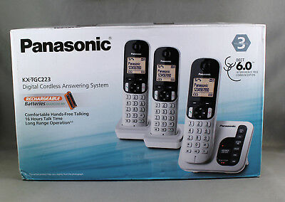 Panasonic Kxtgc223Als Cordless Phone (3 Handsets) 6.0 Dect + Answering System