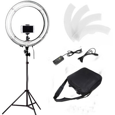 "18"" Dimmable Fluorescent Ring Light Lighting Kit with Light Stand & Carring Bag"