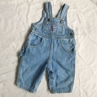 Vintage Baby Guess Jeans Denim Overalls 3 Months High Rise Carpenter Dungarees