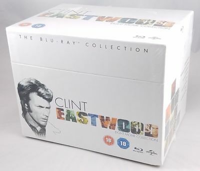 Clint Eastwood 8 Movie Collection Blu-Ray Limited Ed Box Set Region Free - (New)