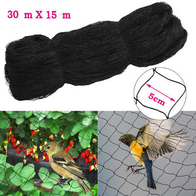 Bird Netting Crops Garden Pond Fruit Anti Net Protection Veg Cage 7.5m 15m 30m