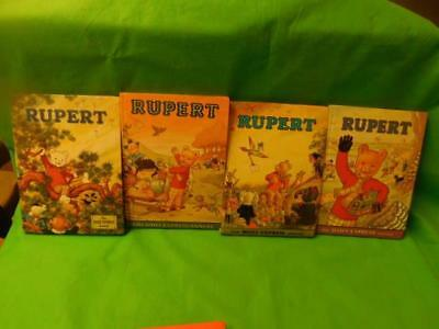 Bundle 4 Vintage Rupert Bear Annual 1972 1973 1976 1978 UNCLIPPED Daily Express