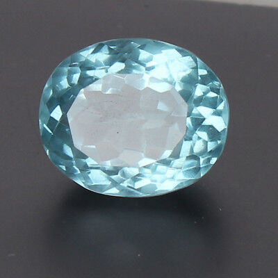 Certified 21.10 Ct. Natural Aquamarine Greenish Blue Color Oval Cut Loose Gem
