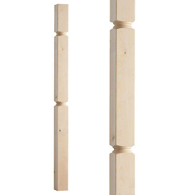 Regency Plain Square Stair Newel Post 1500mm - Select Timber and Type