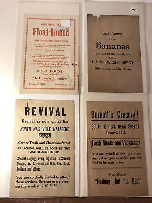 1920's to 1930's Nashville, Tennessee Advertisements