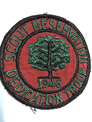 Vintage BSA rare 1946 Scout Reservation Dedication Troop patch Boy Scouts