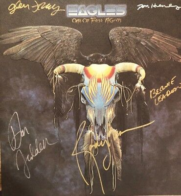 Eagles One Of These Nights LP Originally Autographed By 5 Authenticated