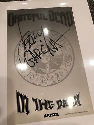 The Grateful Dead Letter Head From Arista Records Autographed By Jerry Garcia
