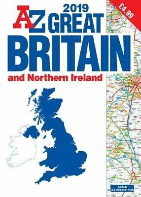 Great Britain Road Atlas 2019 (A3 GBP4.99) New Paperback / softback Book