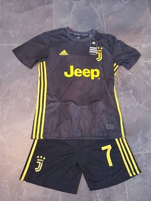 various colors d32fc f26e1 2019 JUVENTUS JERSEY Football Dark Grey Away Kit for 3-14 Years Kids  Suit+socks