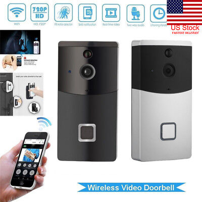 Smart WiFi Doorbell Wireless IR Video Camera Intercom Record Home Security Bells