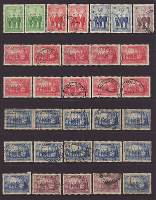 Collection of 32 x 1937 and 1940 Australian pre decimal stamps