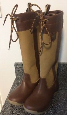 Sherwood Forest Balmoral Country Boots Leather Brown Tan Size 5 Standard