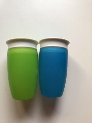 Munchkin Miracle 360 Degree Toddler Baby Trainer Cups Green/blue Spill Proof