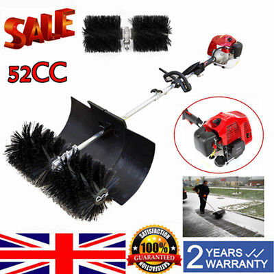 Powerful 52CC Hand Held Cleaning Sweeper Broom Driveway Artificial Grass 2.3HP