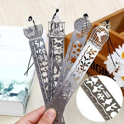 Brief Book Marker Ultra-thin Metal Cutout Bookmark Ruler For Books Stationery