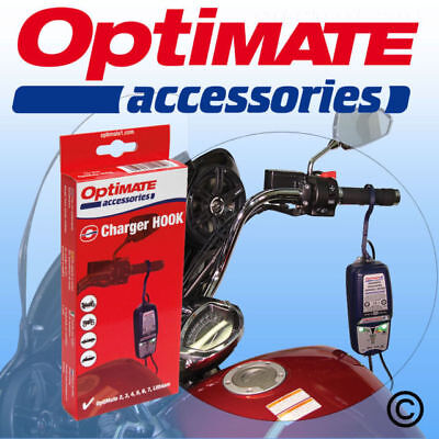 Optimate Motorcycle Battery Charger Charging Hook