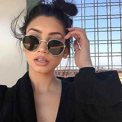 Round Oval Style Men Women Sunglasses Metal Frame Small Lens Fashion Shades