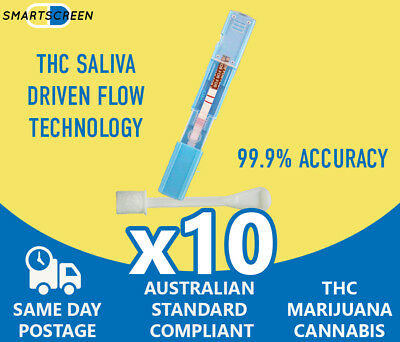 Drugsmart Saliva Drug Testing Kit for THC Drug Test - Tier 1 Test Quality