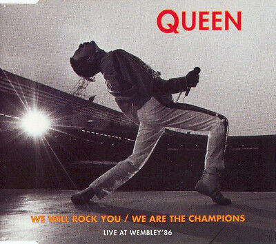 CD MAXI-SINGLE Queen ‎We Will Rock You We Are The Champions (Live At Wembley'86)