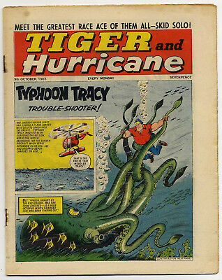 Tiger 9th Oct 1965 (Roy of the Rovers, Jet-Ace Logan, Olac the Gladiator...)