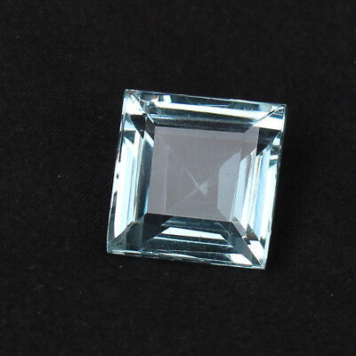 Natural 20.10 Ct. Certified Greenish Blue Color Aquamarine Square Cut Loose Gem