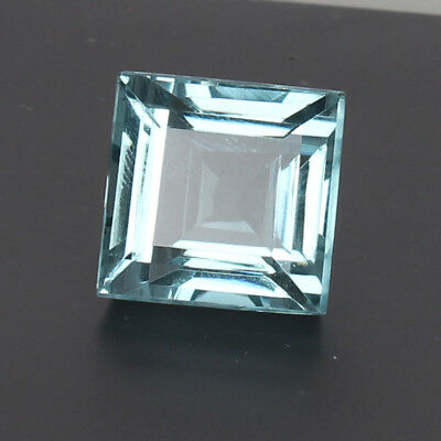 Natural 22.65 Ct. Certified Greenish Blue Color Aquamarine Square Cut Loose Gem