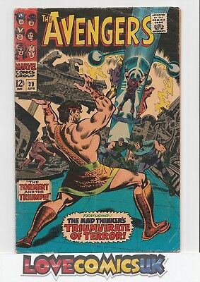 The Avengers #39 Hercules & Mad Thinker Cents Silver Age Marvel Comics