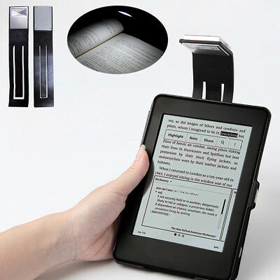 For Kindle Reader Portable Flexible Folding LED Clip On Reading Book Light Lamp