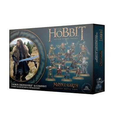 Thorin Oakenshield & Company Games Workshop Middle-Earth Strategy Battle Gam New