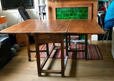 Antique Late 18th Century Gate Legged French Dining Table