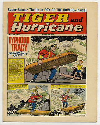 Tiger 12th June 1965 (Jet-Ace Logan, Olac the Gladiator, Roy of the Rovers)