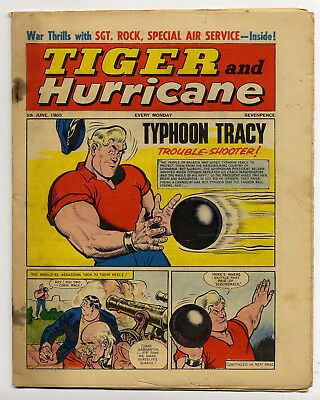 Tiger 5th June 1965 (Roy of the Rovers, Jet-Ace Logan, Olac the Gladiator)