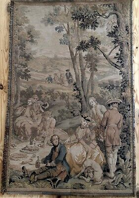 Beautiful Vintage Aubusson Style Tapestry Wall Hanging