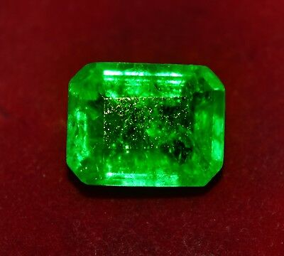 Stunning Natural Green Emerald, 12.05 Cts. Emerald Shape GGL Certified Gemstone