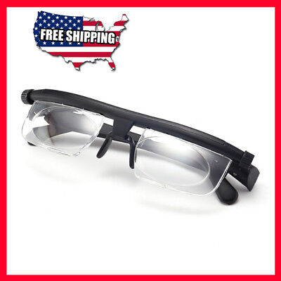 Adjustable Prescription Glass Strength Lens Reading Myopia Variable Focus Vision