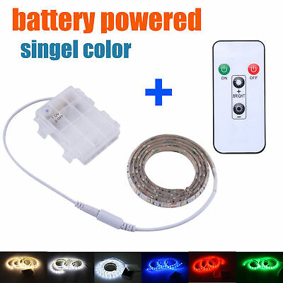 Battery Powered LED Strip Lights with Remote Waterproof for Sideboard Longboard