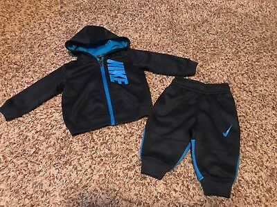 SALE Baby Boy Infant Sports Nike Track Suit Zip Up And Jogger Pants 0-6mths