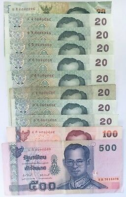Left Over Holiday Money Thailand 780 Baht Banknotes  (Legal Tender) Vacation