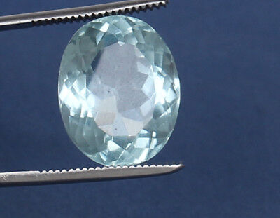 18.50 Ct. Natural Certified Aquamarine Greenish Blue Color Oval Shape Loose Gem
