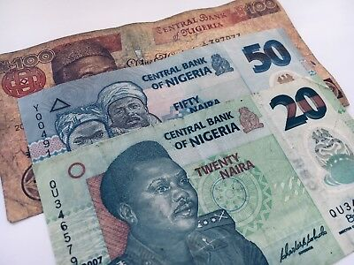 Left Over Holiday Money Nigeria 170 Naira In Banknotes