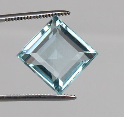 Certified 23.05 Ct. Natural Aquamarine Greenish Blue Color Square Cut Loose Gem