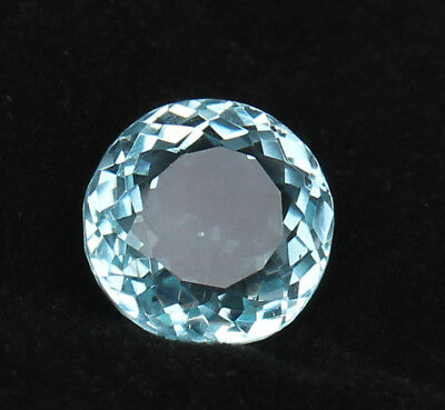 21.85 Ct.  Round Cut Greenish Blue Color Aquamarine Natural Certified Loose Gem
