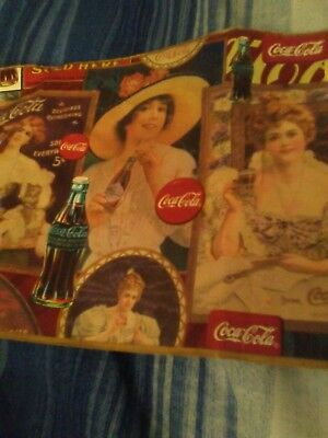 Vinyl Upholstery Wall Paper Coca - Cola Memorabilia (apx18 in long /6 1/2 wide)
