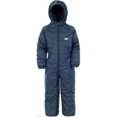 Trespass Boys All In One Padded Waterproof Snow Suit Puddle Rainsuit Toddler Ek
